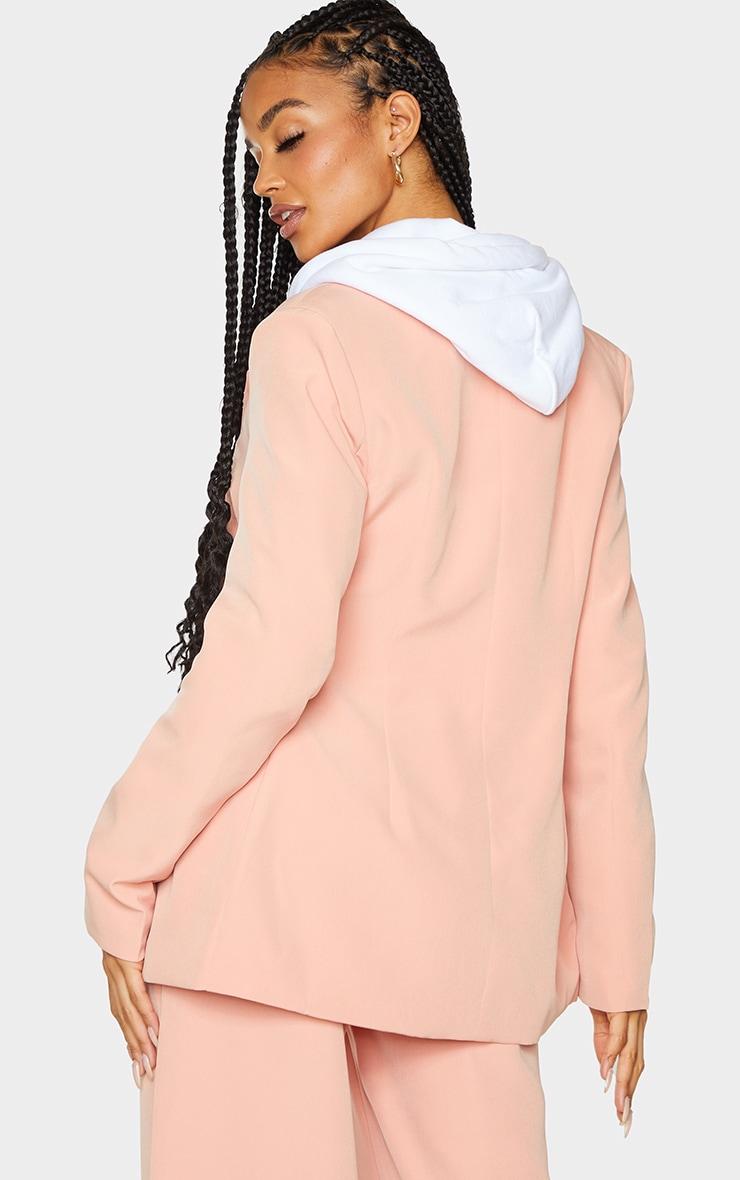 Peach Woven Double Breast Blazer 2