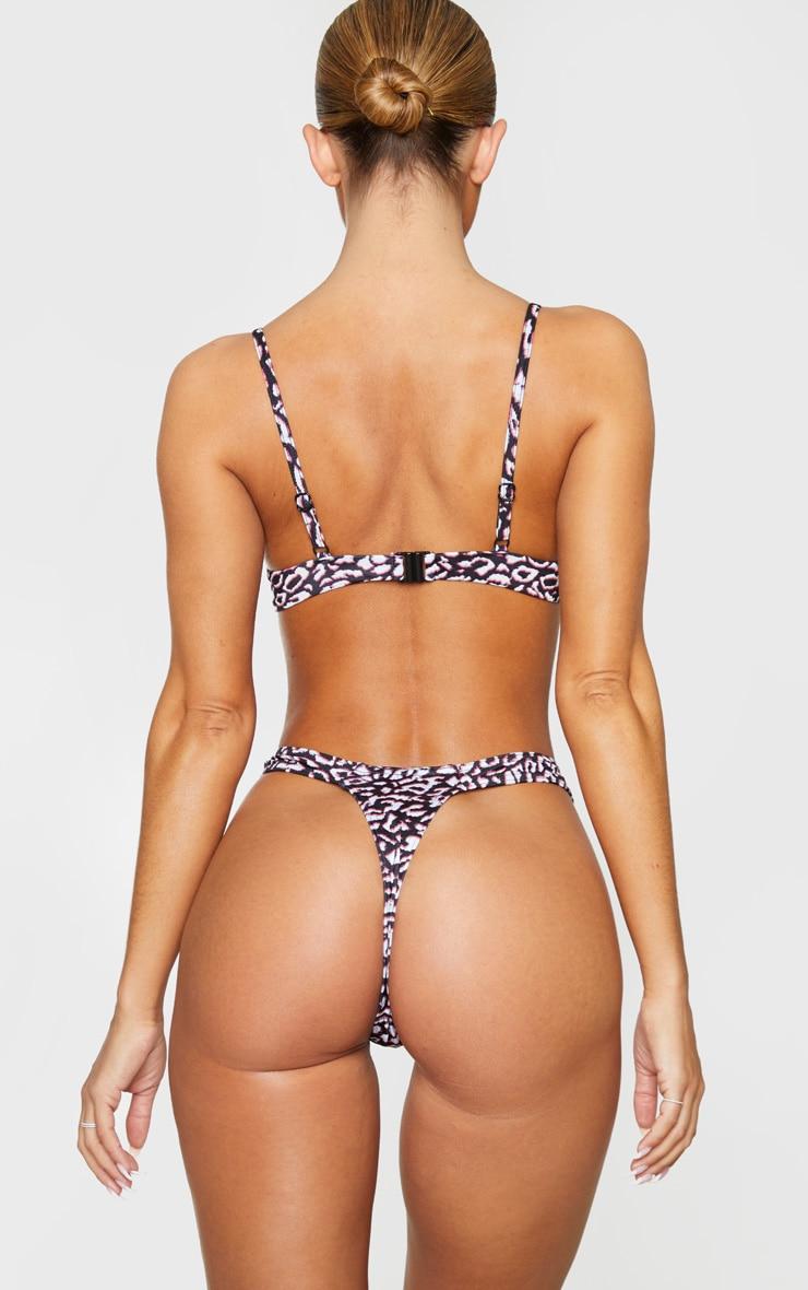 Leopard Thong Bikini Bottom 3