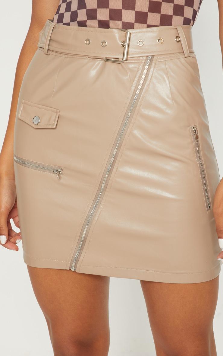 Stone Biker Belted Mini Skirt 6