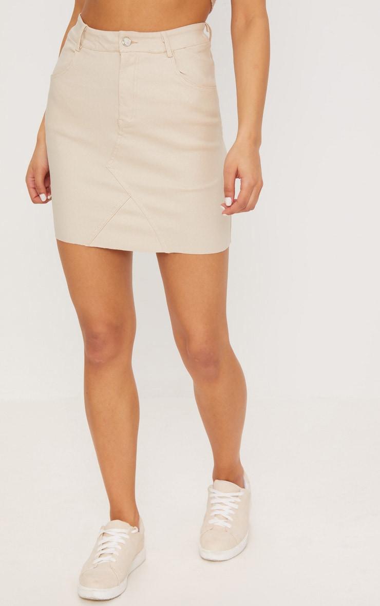 Stone Coated Denim Skirt 2