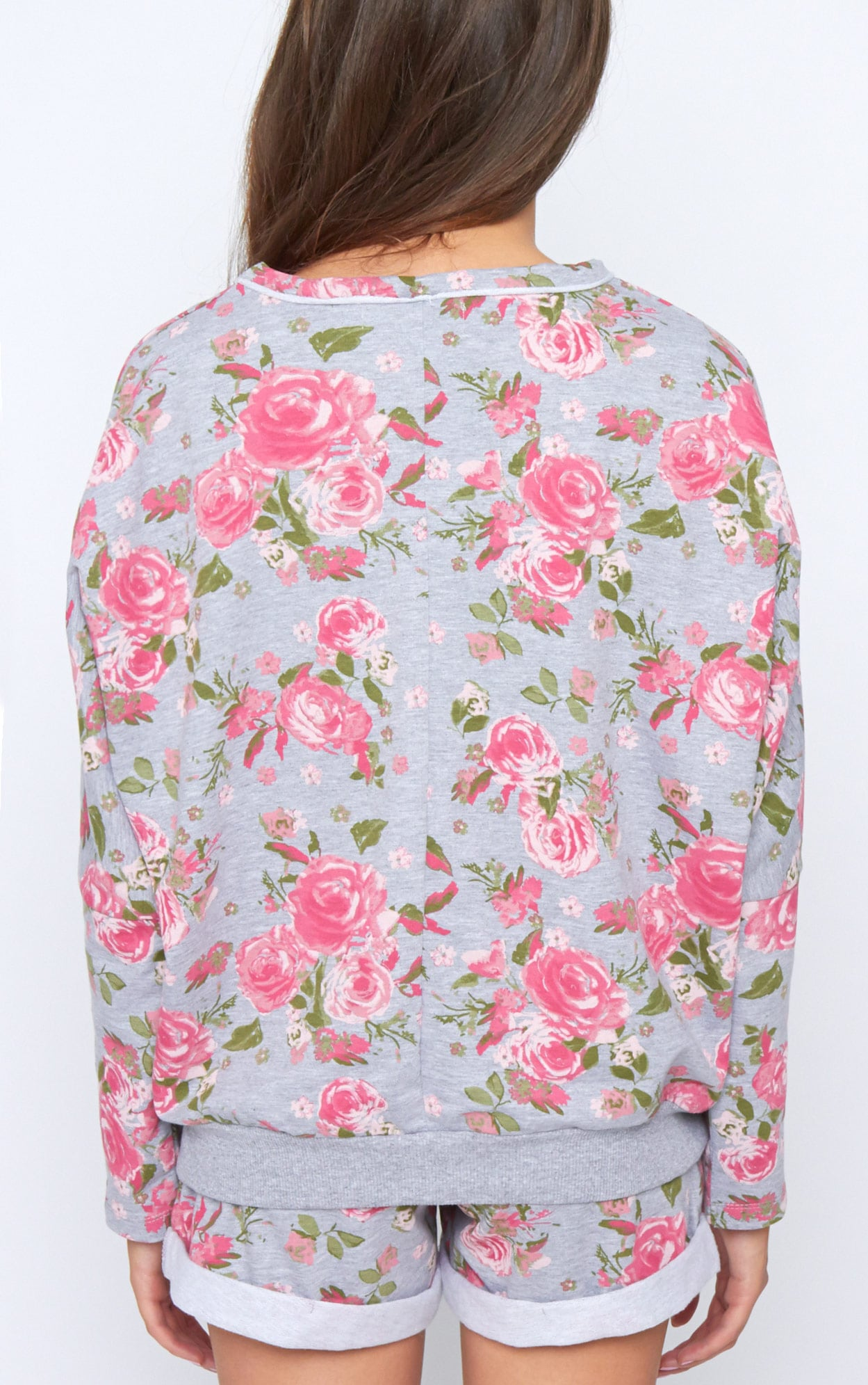 Aria Grey Floral Sweater 2