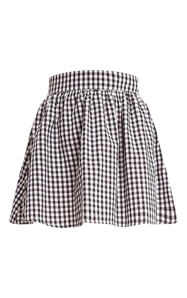 Rosae Black Gingham Floaty Mini Skirt  3