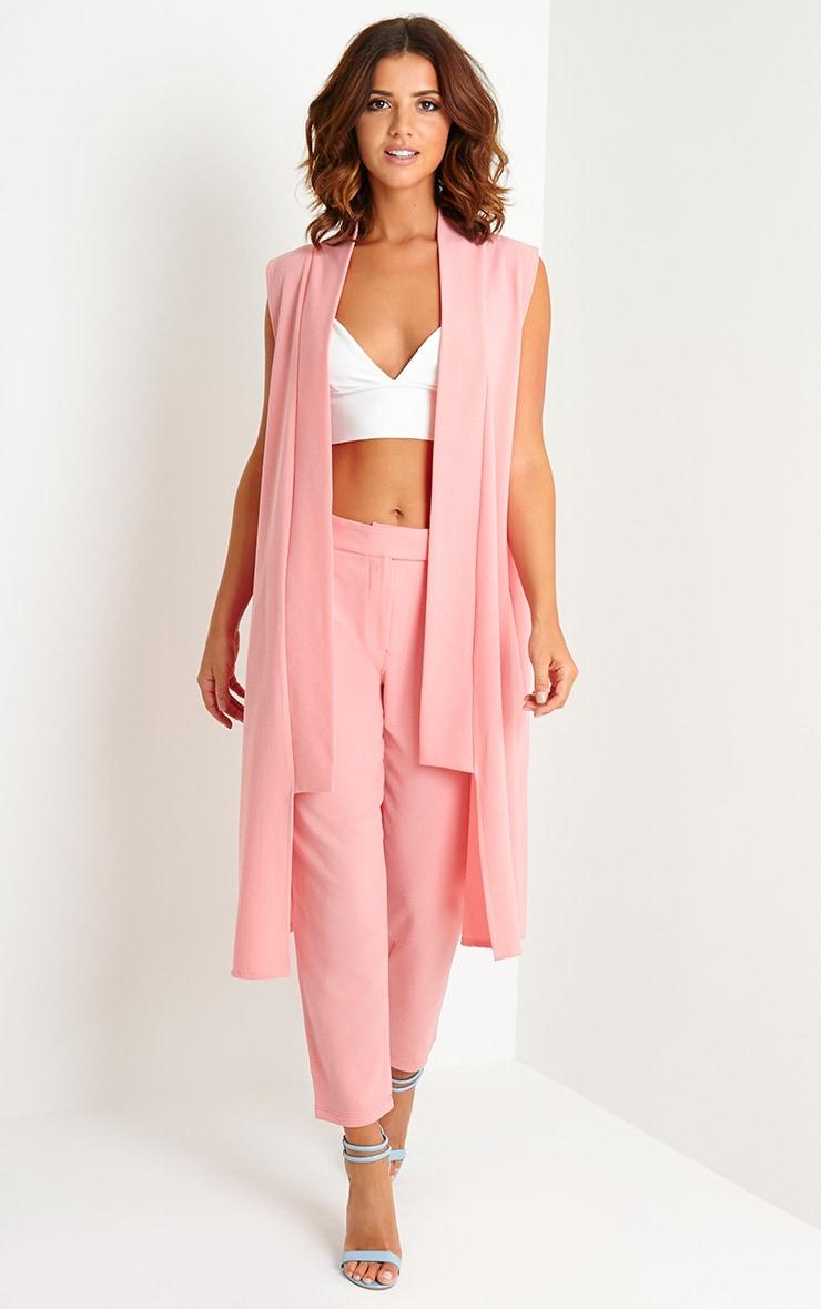 Lyndi Pink Crepe Trousers 1