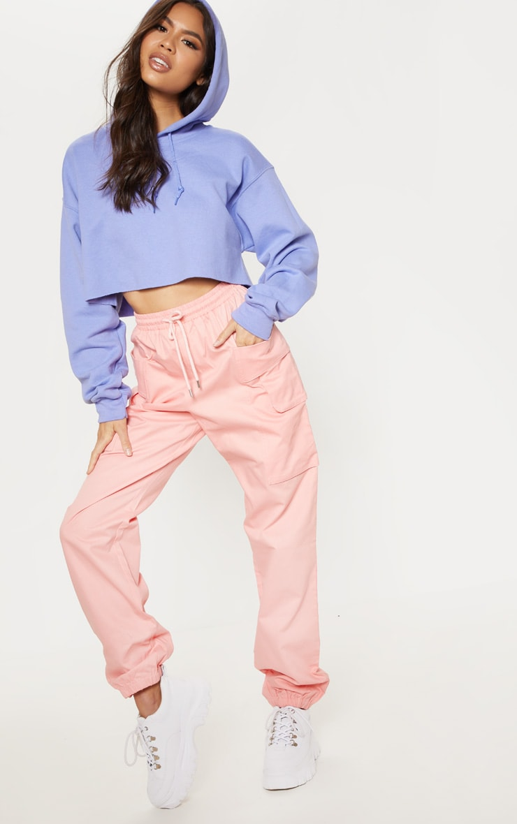 Lilac Ultimate Oversized Crop Hoodie 4