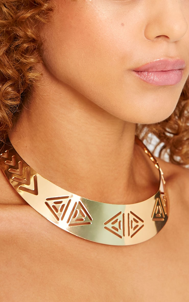 Lilian Gold Cut Out Collar 3