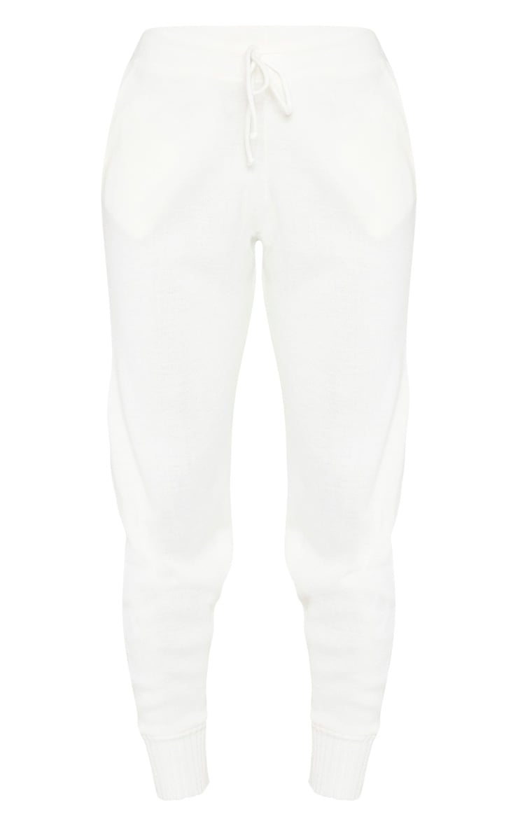 Ivory Knitted Jogger 3