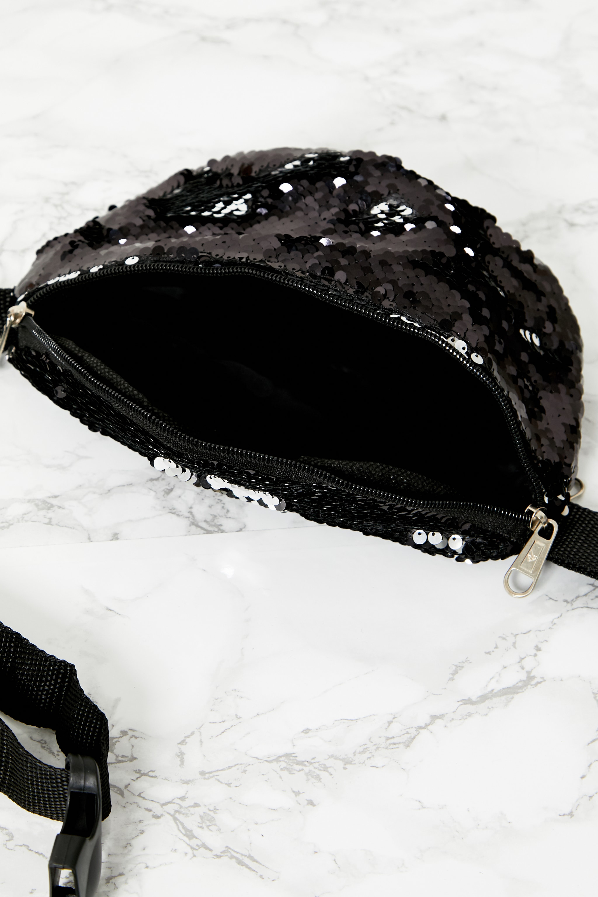 Black Sequin Bum Bag 4