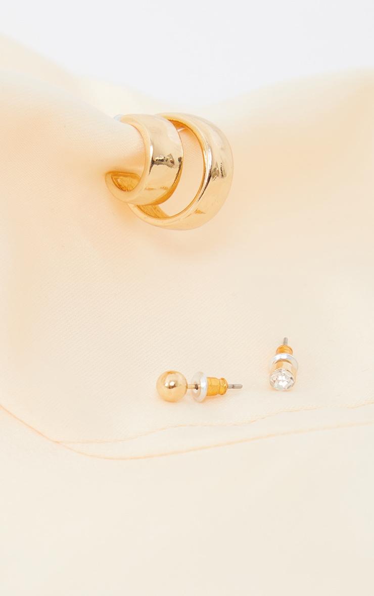 Gold Multi Pack Earrings 3