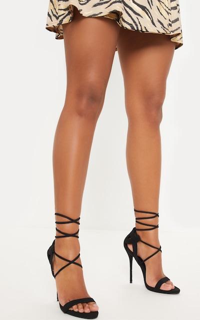Serenna Black Lace Up Sandals