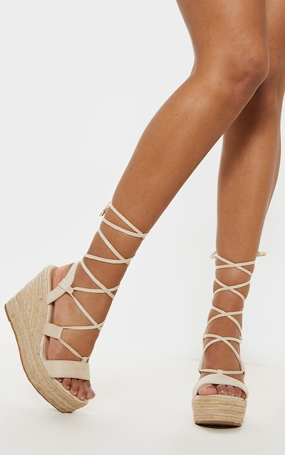 Nude Ghillie Espadrille Wedge