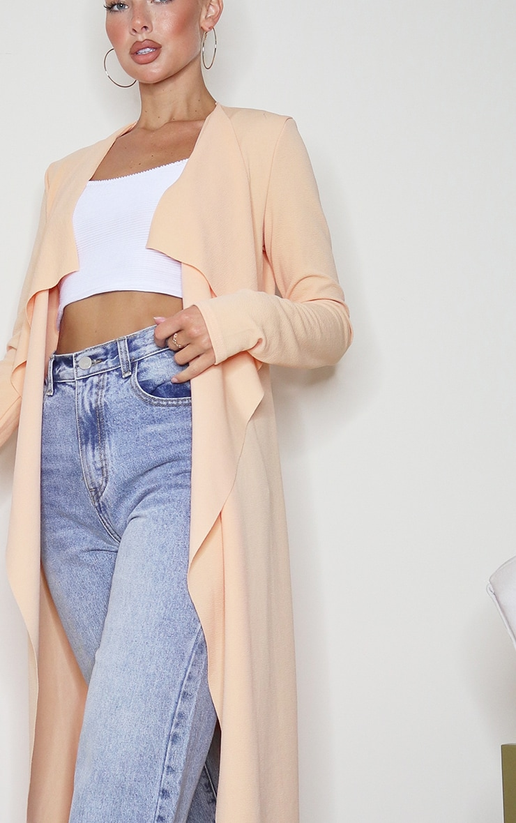 Peach Waterfall Maxi Duster Jacket 4