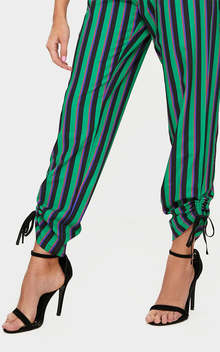 Bright Green Ruched Detail Suit Pants  5