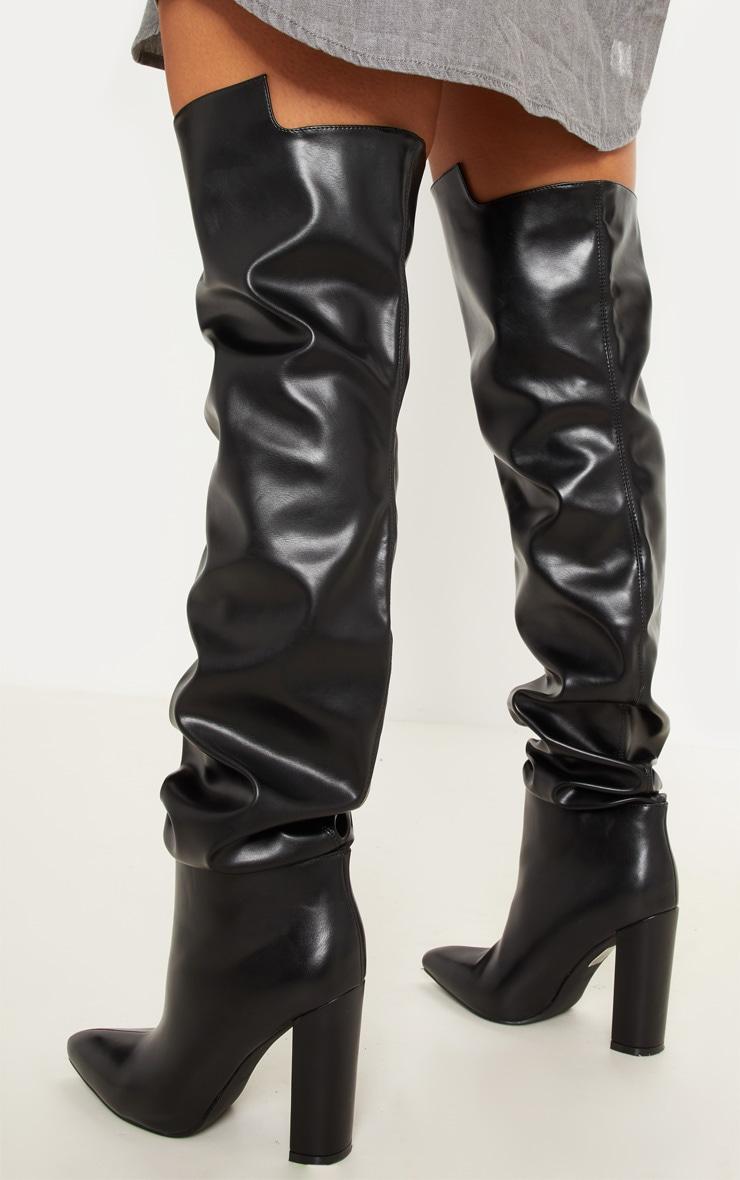 Black Western Thigh High Boot 3
