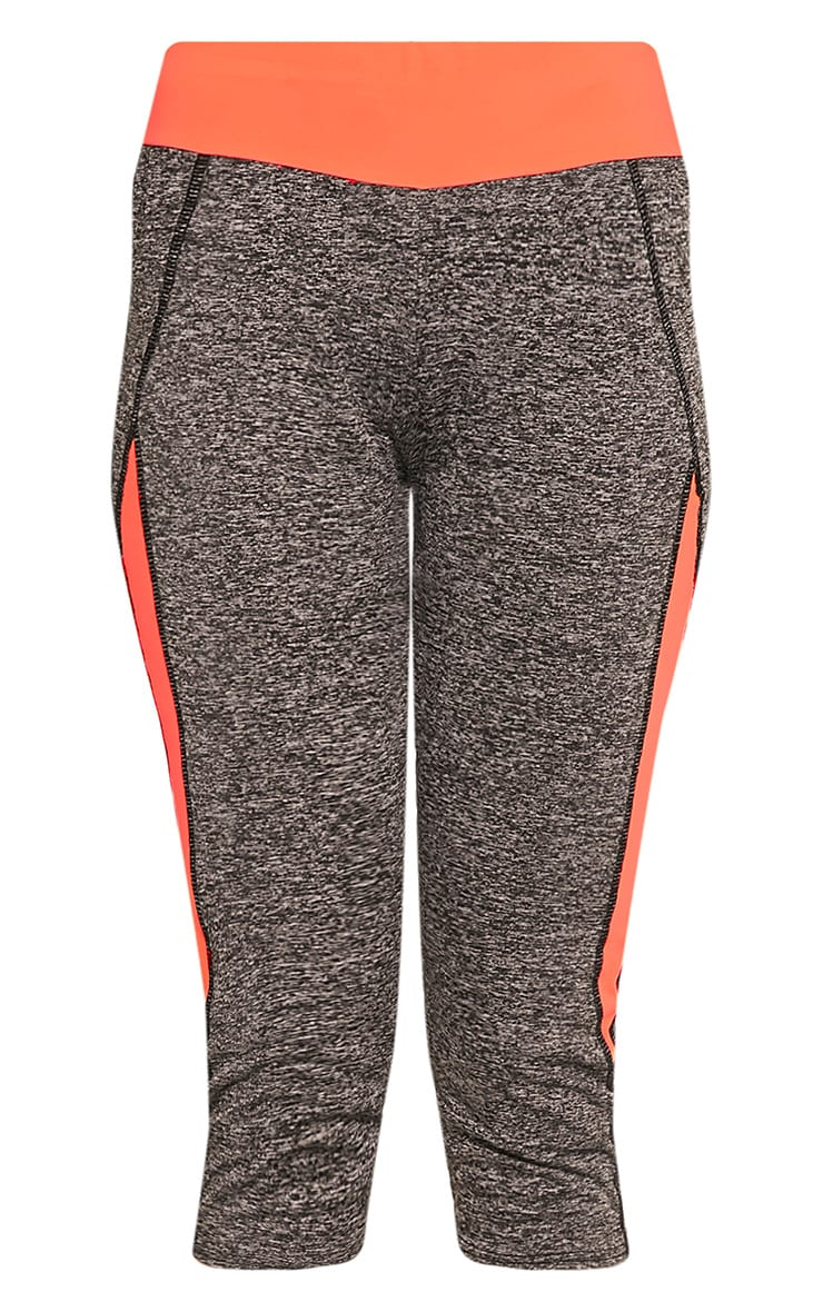 Jennie legging court sport orange à bandes 3
