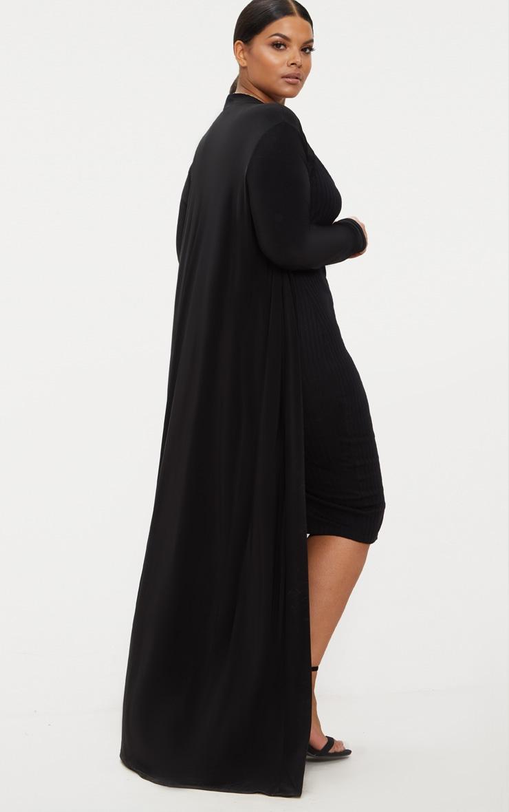Plus Black Slinky Duster Jacket Plus Size