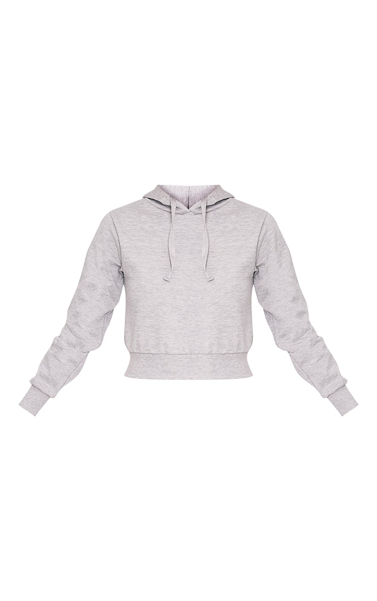 Mila Grey Pull On Cropped Hoody 3