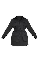 Plus Black Utility Shirt Dress 1
