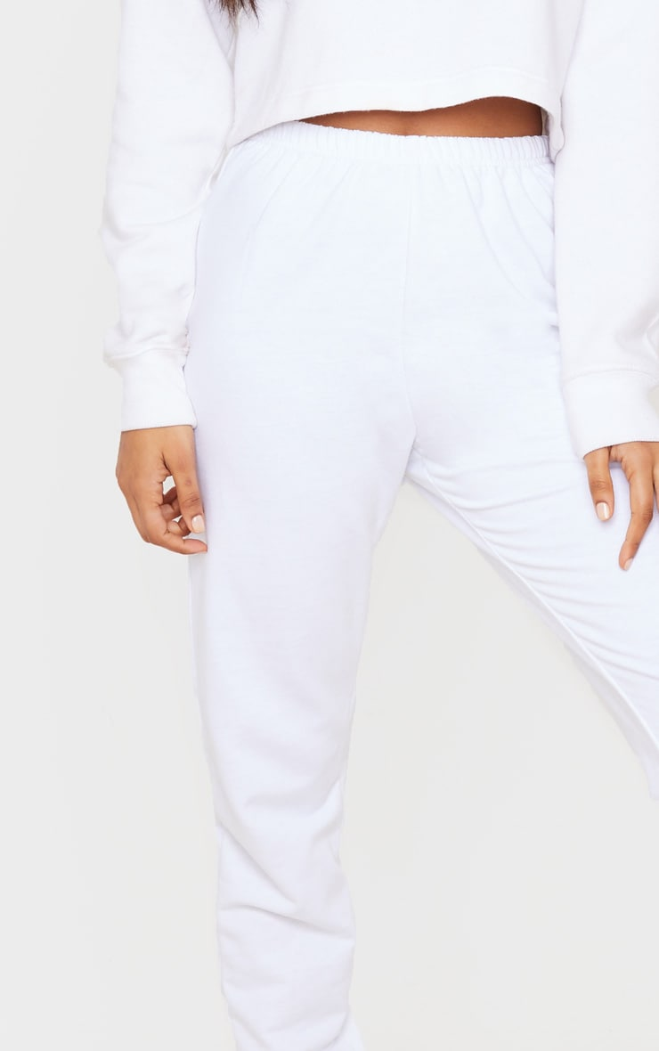 White Skinny Joggers 5