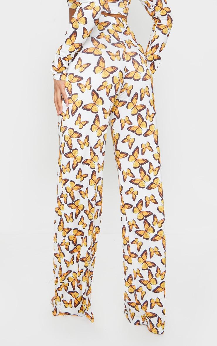 Multi Butterfly Print Wide Leg Pants 3