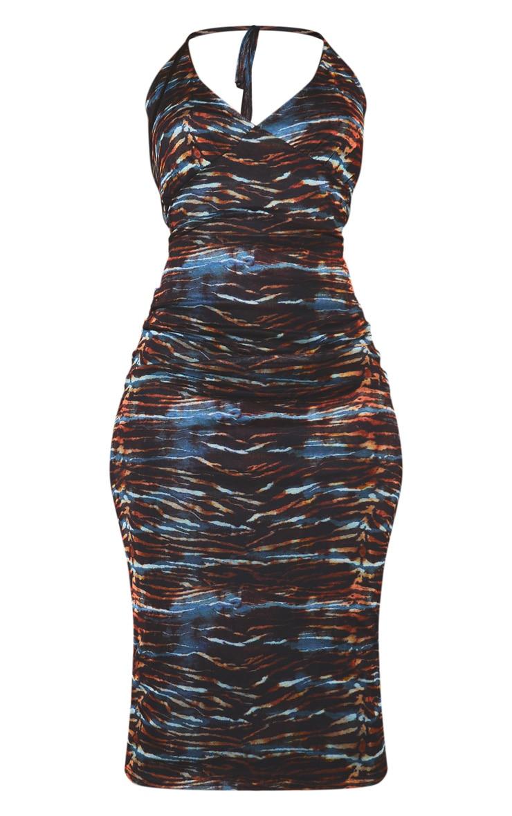 Multi Halterneck Mesh Midaxi Dress 5