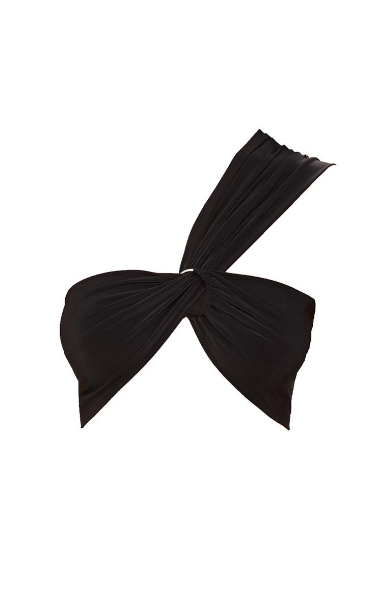 Black Slinky O Ring Crop Top 3