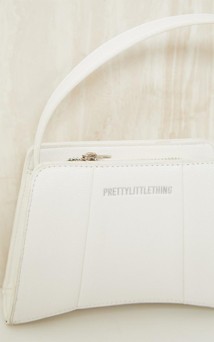 PRETTYLITTLETHING White Triangular Shoulder Bag 3