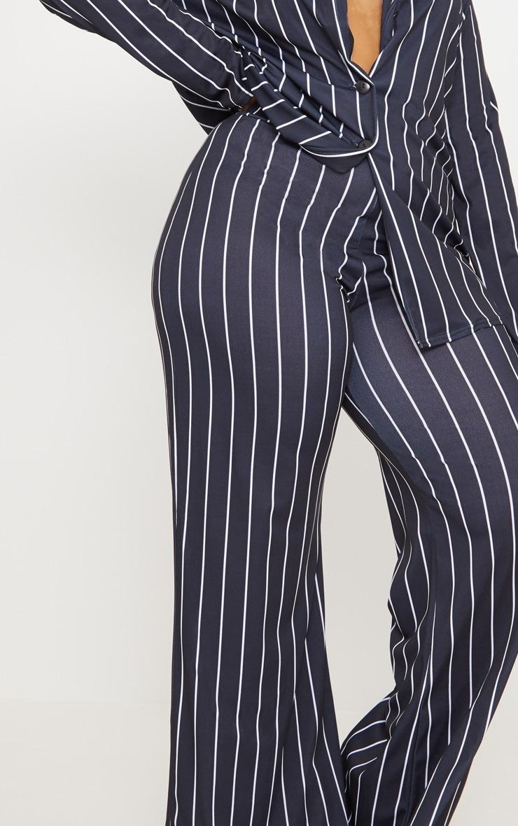 Plus Black Stripe Wide Leg Trousers  5