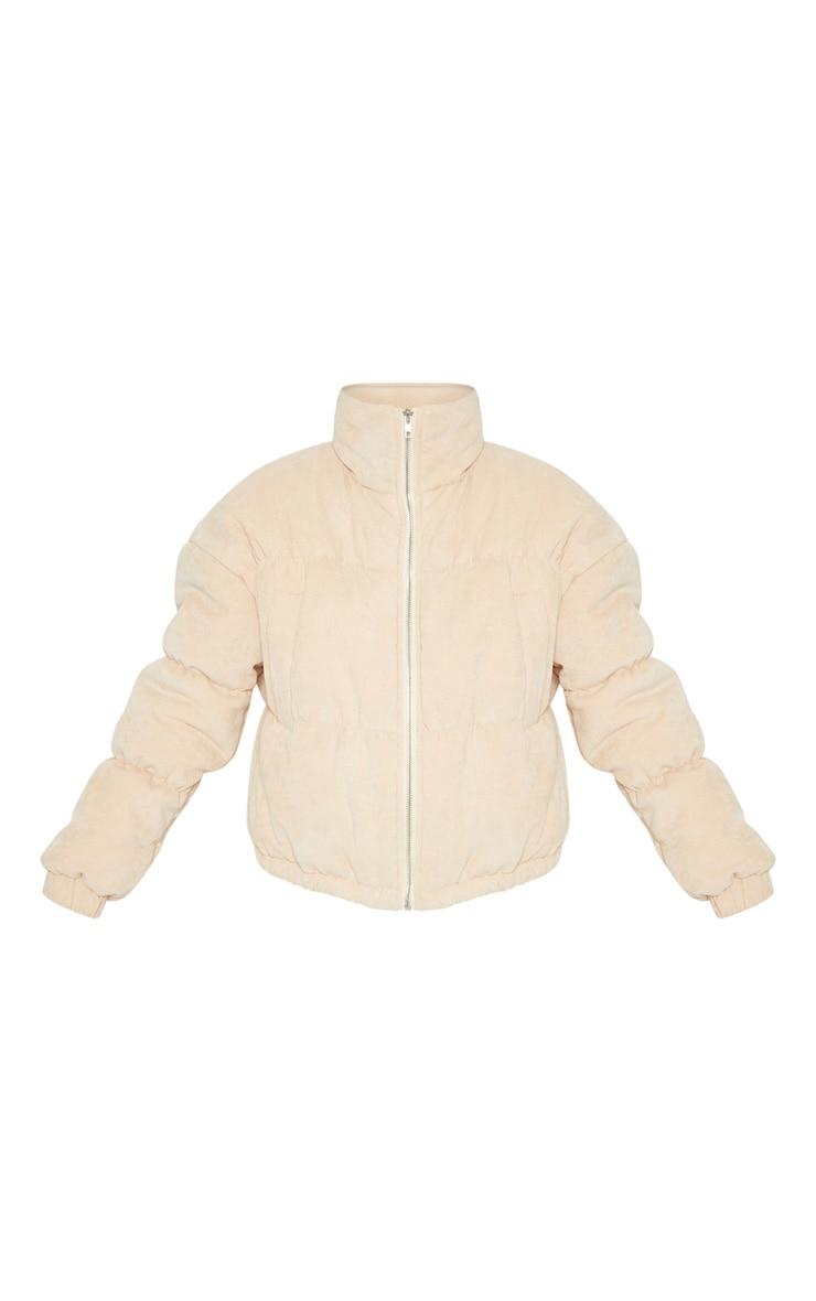 Petite Beige Cord Puffer Jacket 3
