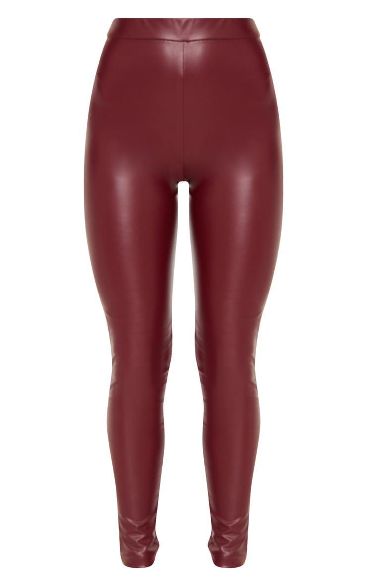 Maroon Faux Leather Legging 3