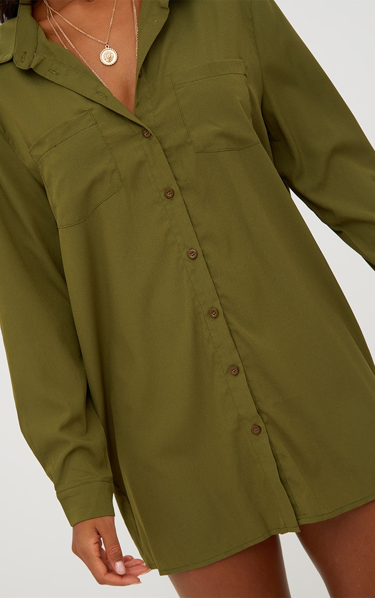 Effy Khaki Shirt Dress 5