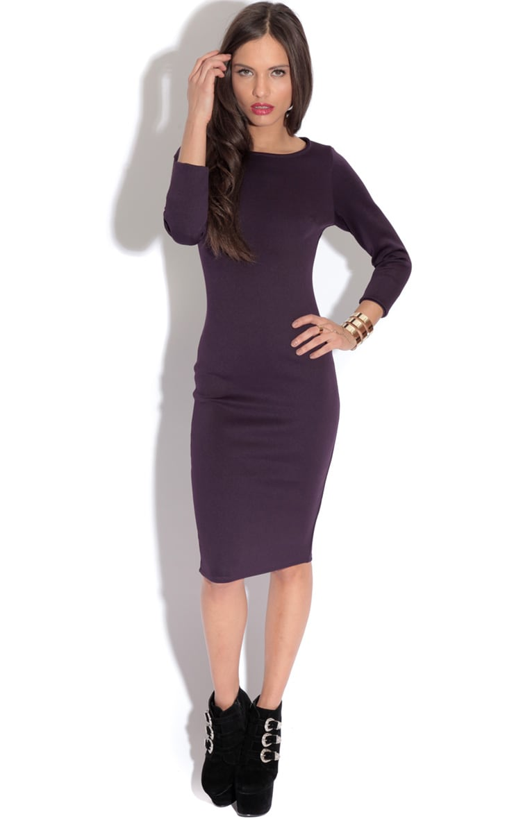 Macy Bergundy Bodycon Dress-18 1
