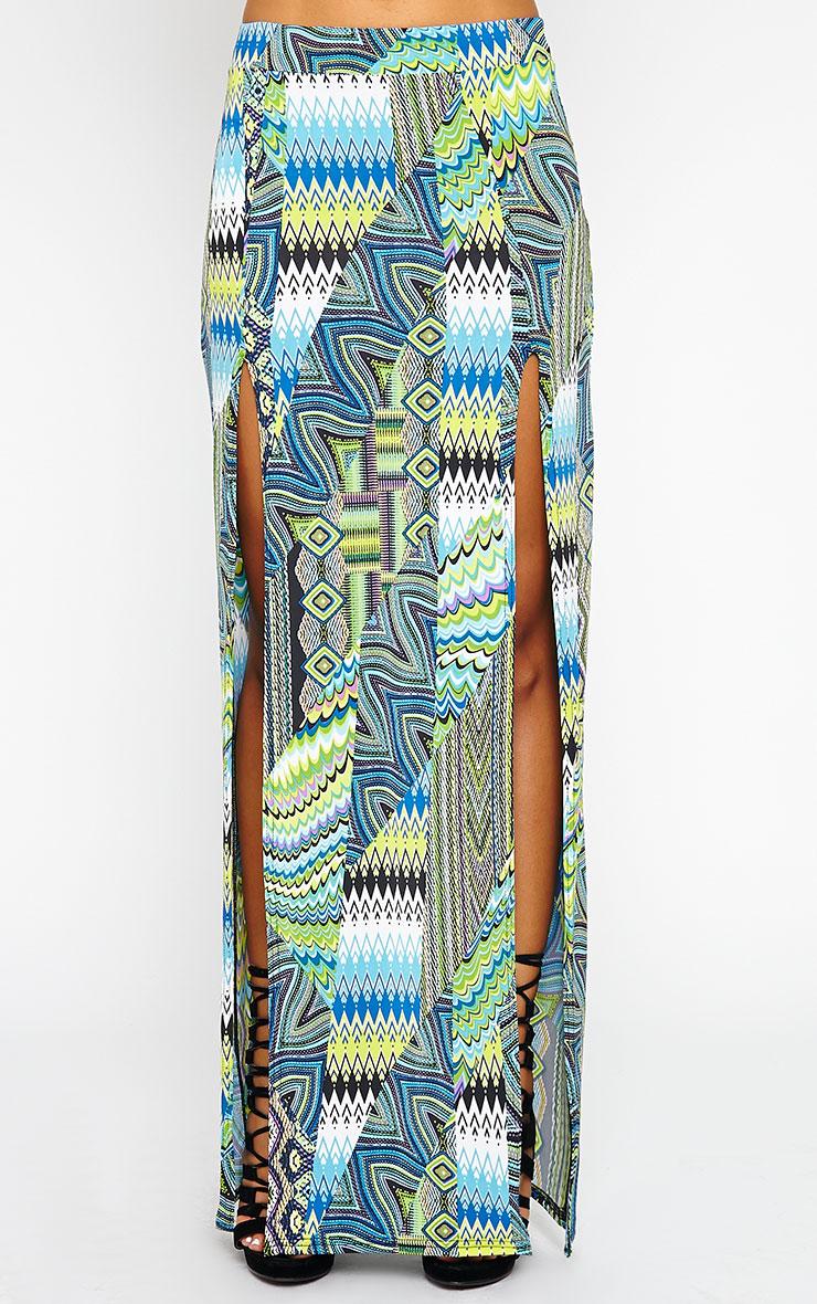 Harmony Blue Printed Skirt 3