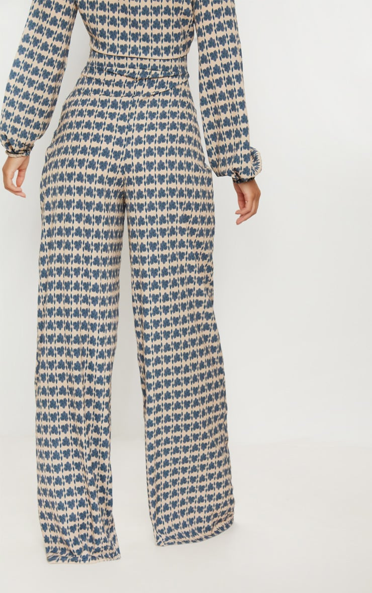 Stone Printed Wide Leg Trousers 4