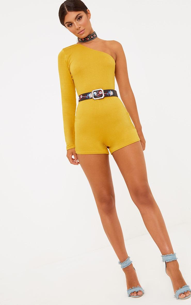 Mustard One Shoulder Playsuit 5