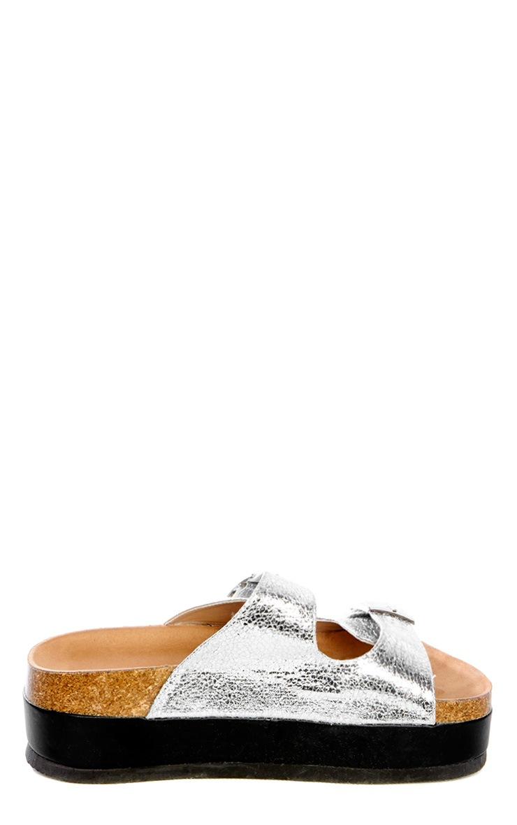 Dana Silver Platform Sandals 4