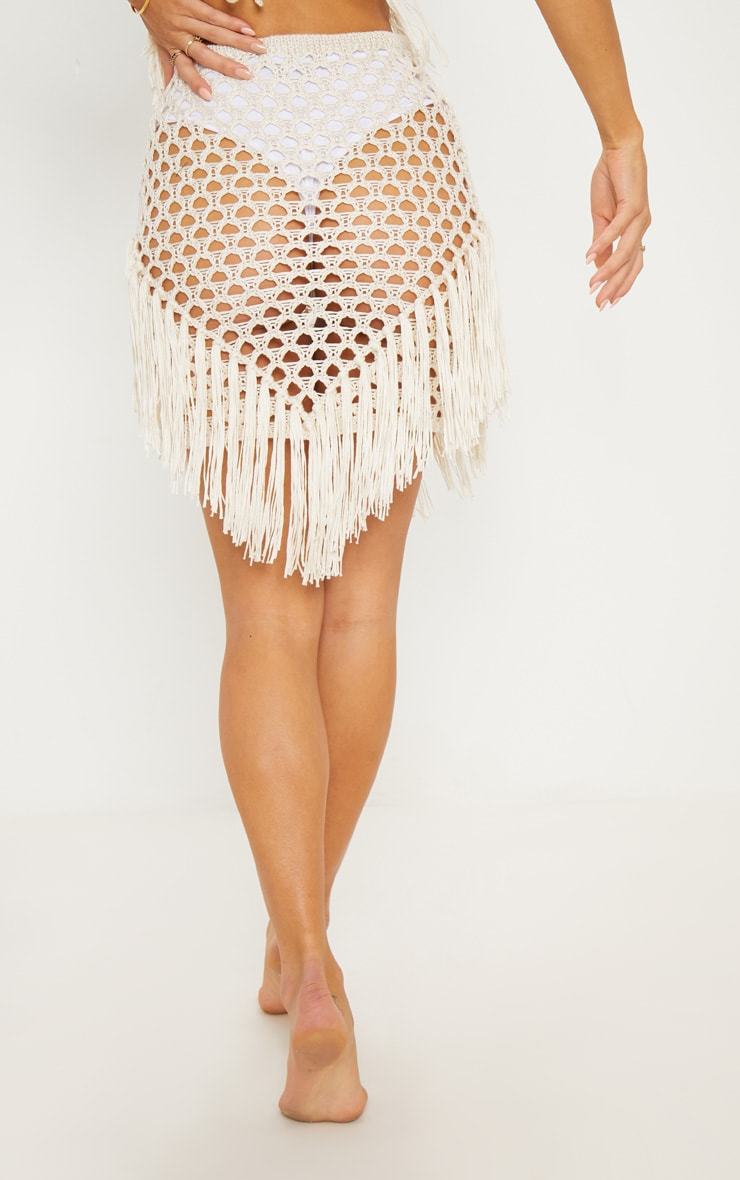 Cream Crochet Skirt 4