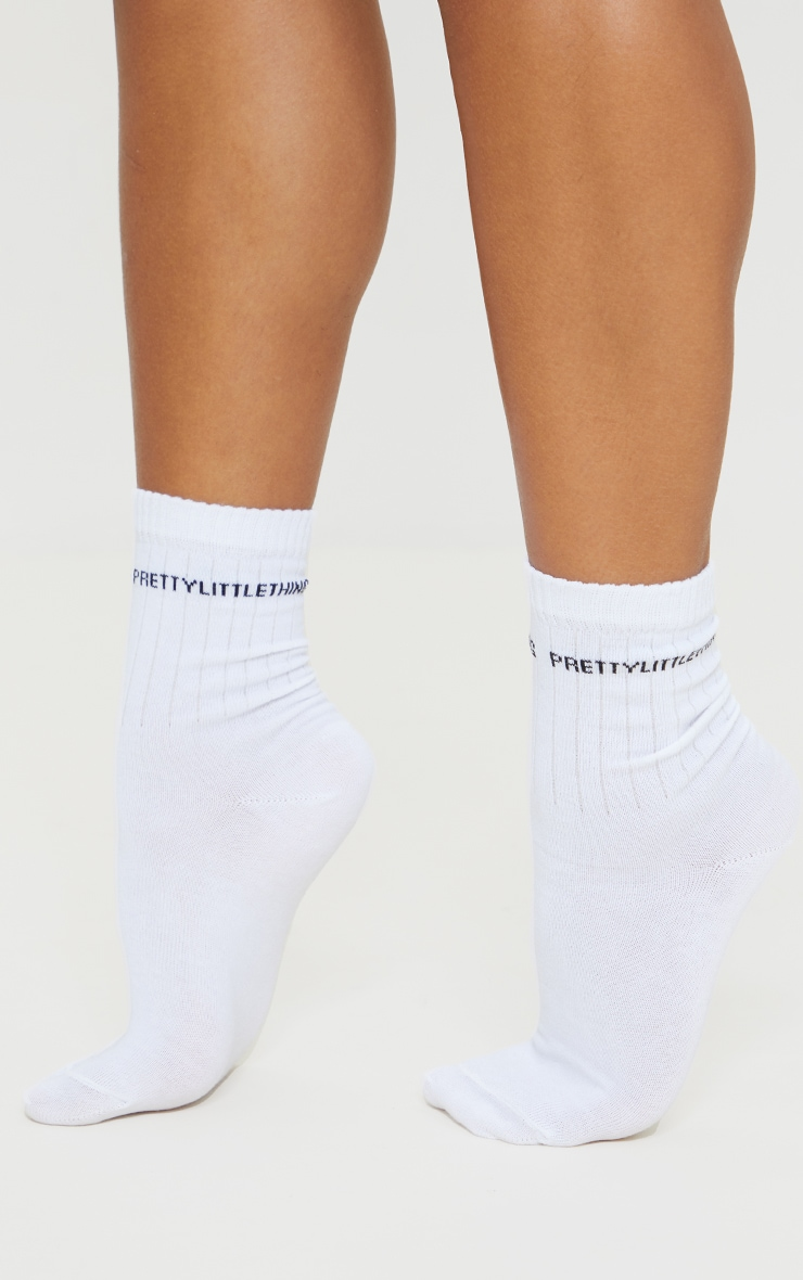 PRETTYLITTLETHING Assorted Branded Three Pack Socks 1