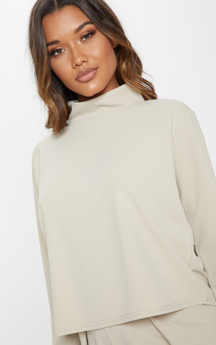 Stone High Neck Long Sleeve Sweater 6
