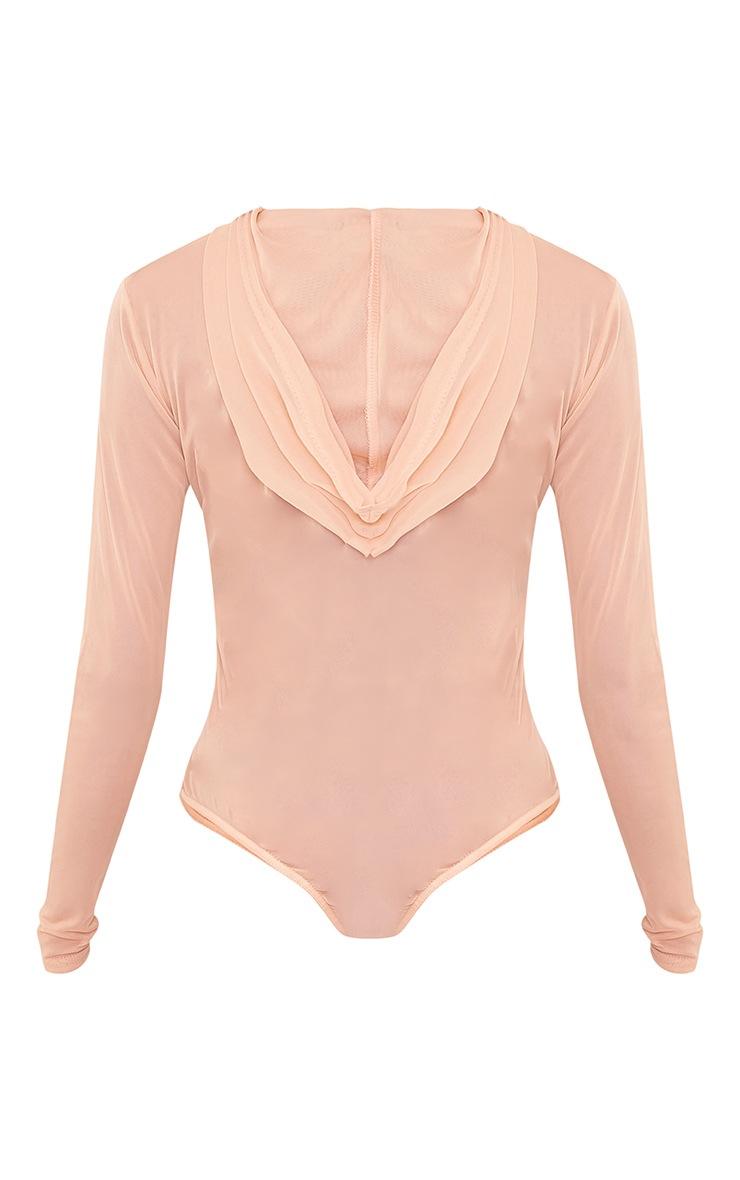 Lidya Nude Mesh Hooded Thong Bodysuit 4