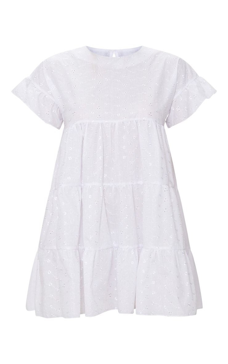 White Broderie Anglaise Smock Dress 3