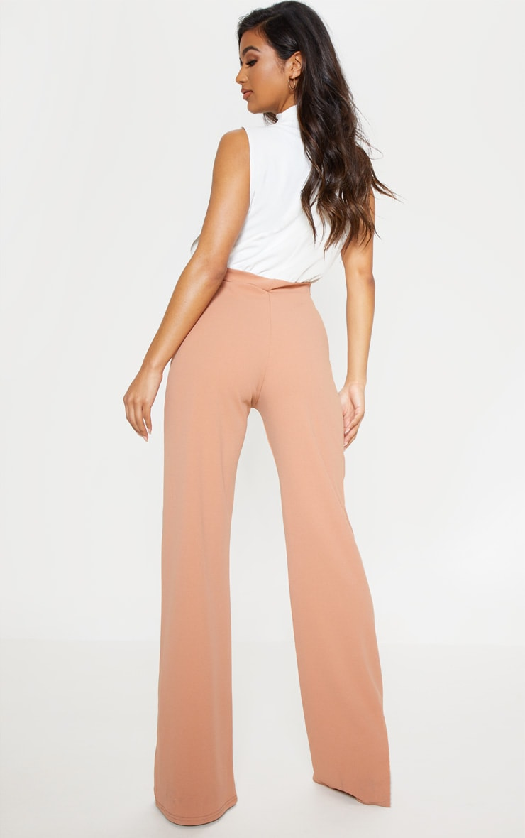 Nude High Neck Wide Leg Jumpsuit 3