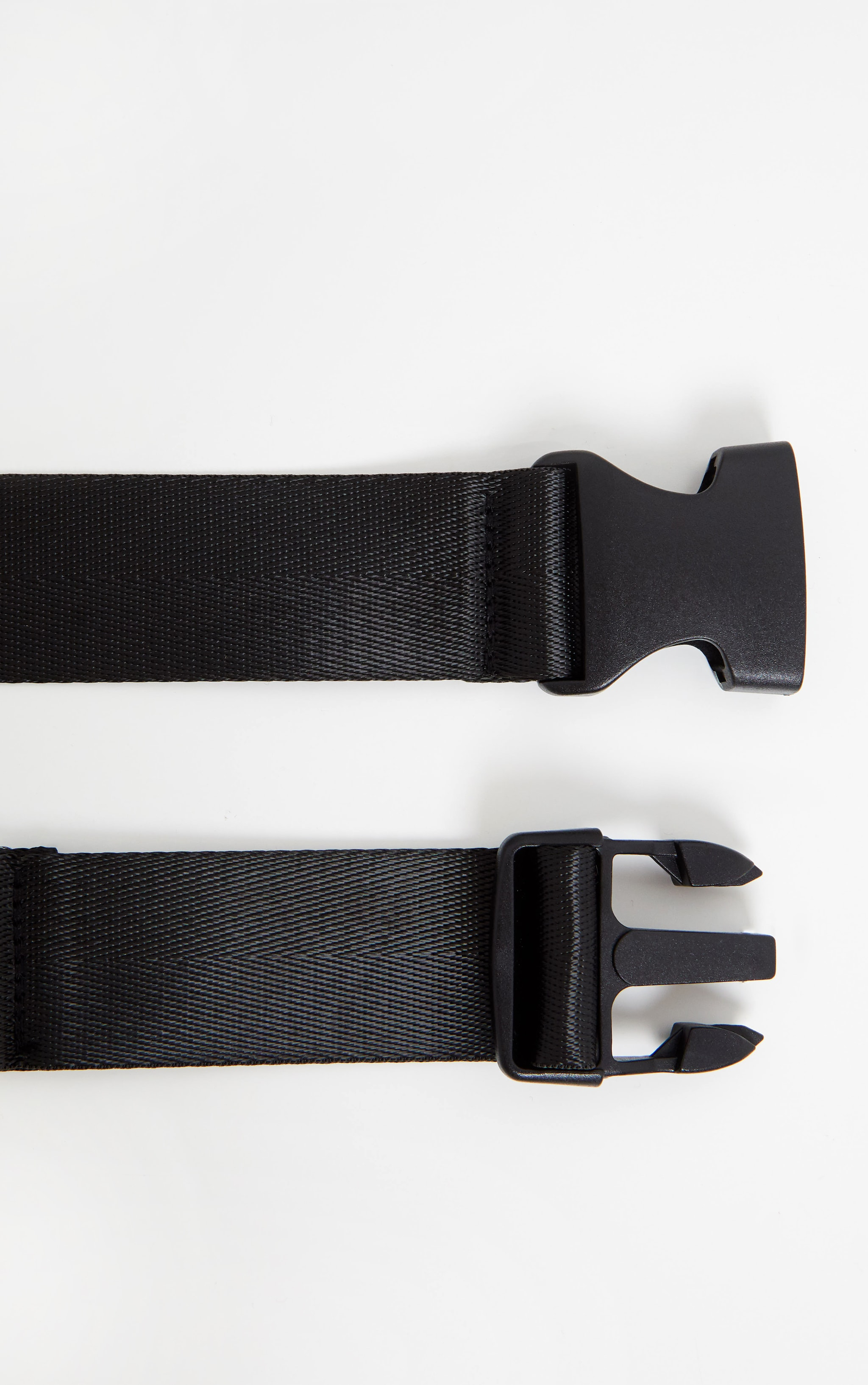 Black Tape Slider Buckle Belt 3