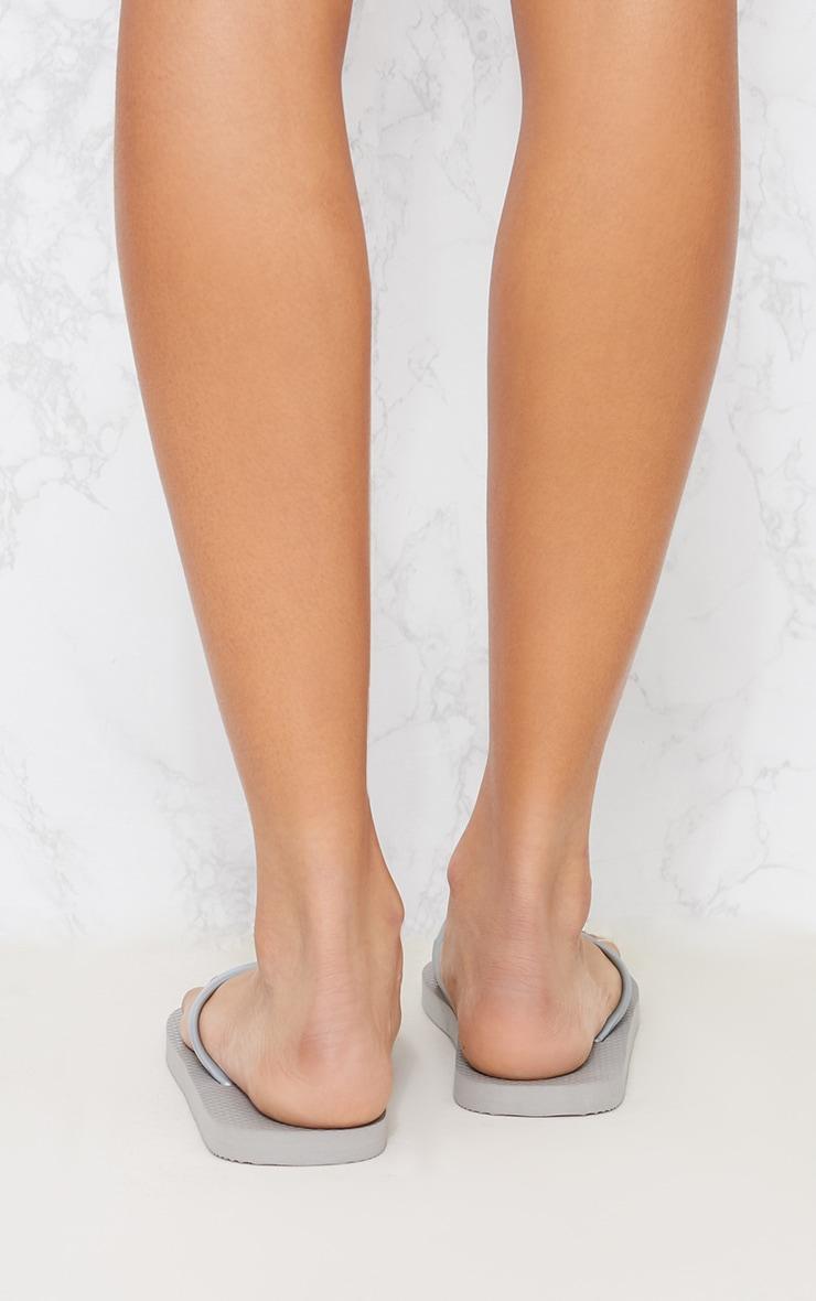 Silver Flip Flop 4