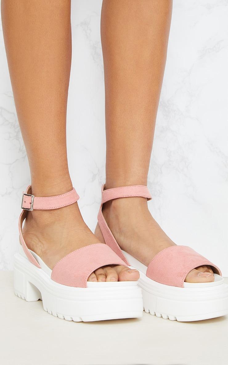 Sandales roses à grosses semelles 5