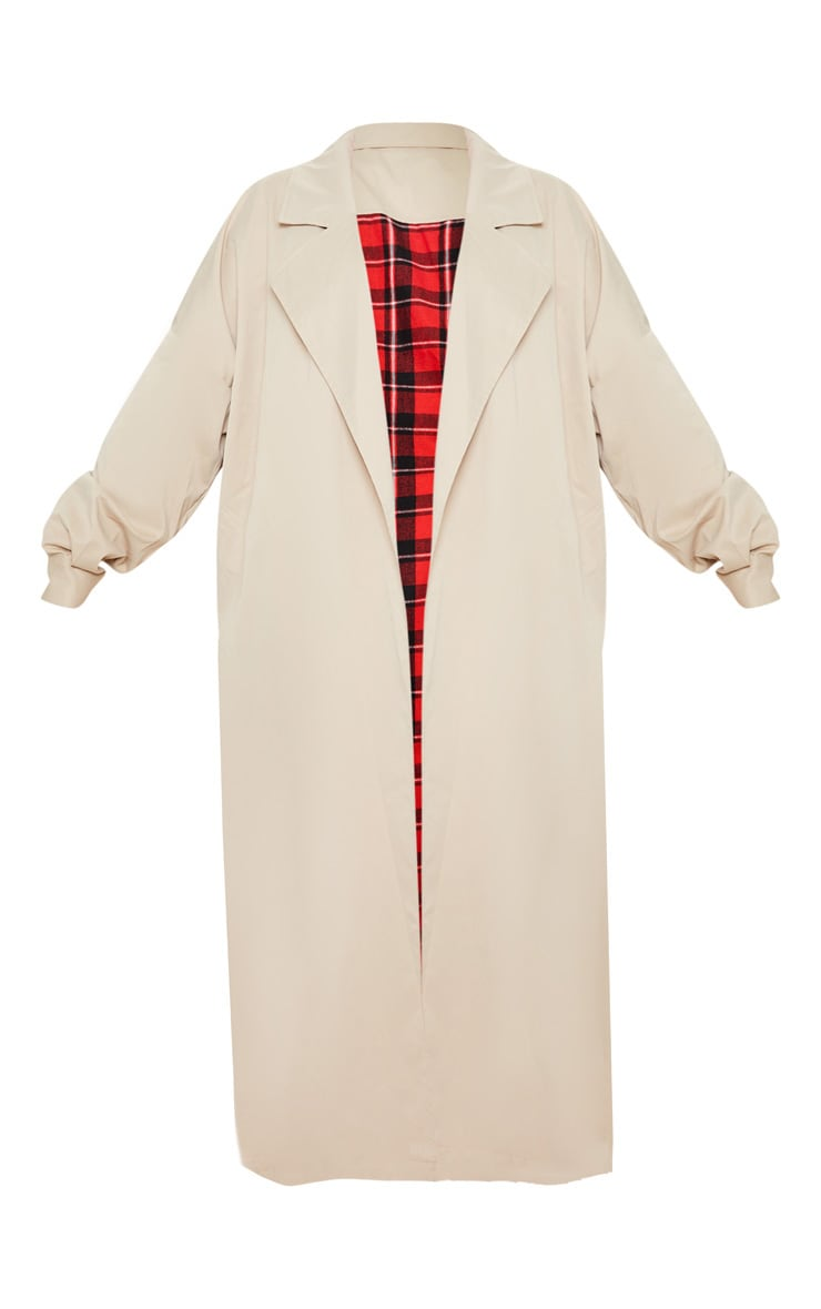 Plus Stone Contrast Panel Trench Coat 3