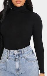 Petite Black Basic Roll Neck Long Sleeve Bodysuit 6