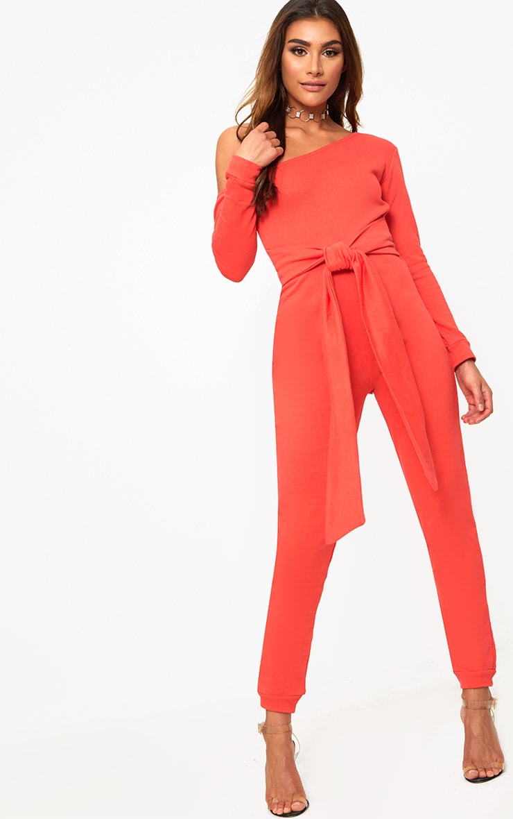 Red Sweat Jumpsuit 1