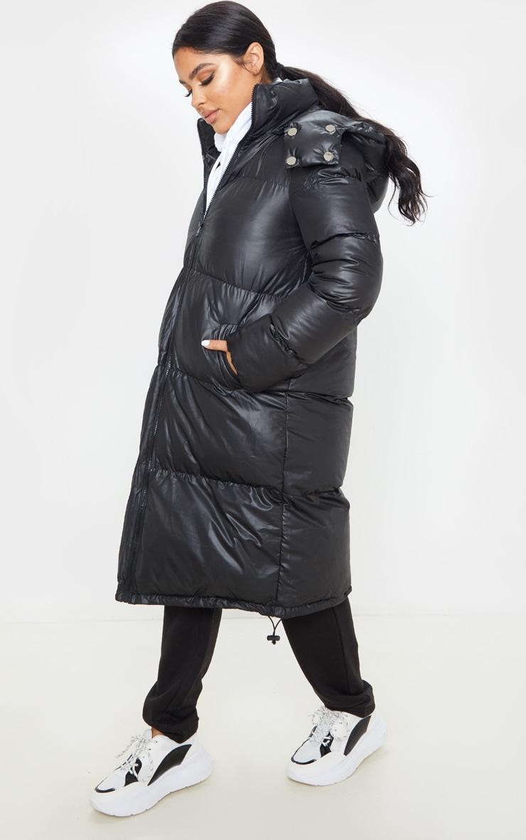 Petite Black Maxi Puffer Coat 4
