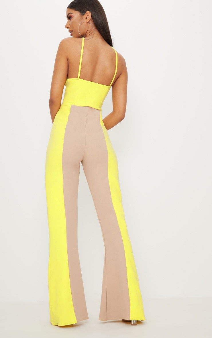 Yellow Colour Block Jumpsuit 2