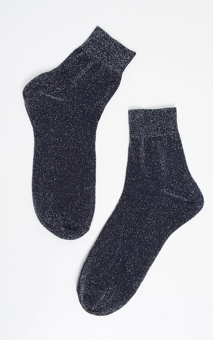 Silver Glitter Socks 3